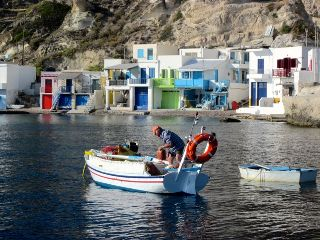 greece village sea colorful travel