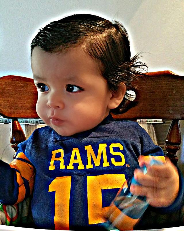 Wearing dad's old shirt! #stlouisrams #stlrams #rams #losangelesrams #larams #bringbackthelarams