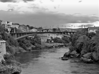 blackandwhite photography bridge river water