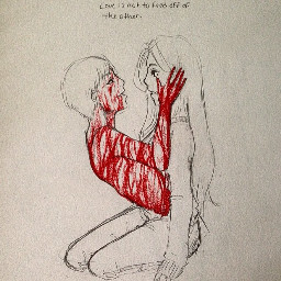 anime drawing sketch love gore