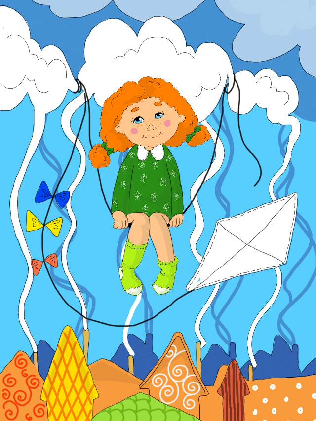 Fly, fly the Kite,  Take with yourself all children.  Fly, fly over all Planet,  Look Earth in the face children. #kite #children #kids  #art #digitalart #digitaldrawing #drawingwithsmartphone #drawing #sketch #illustration #nokialumia #рисуювтелефоне #рисунок #иллюстрация