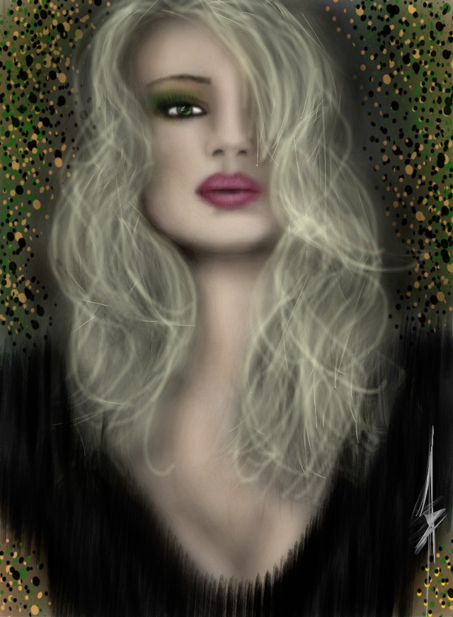 #digital #drawing #art #beauty #portrait #KimFerris 2015
