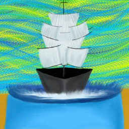 dcboat surreal colorful emotions drawing