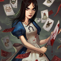 alice alicemadnessreturns game madness cards girl