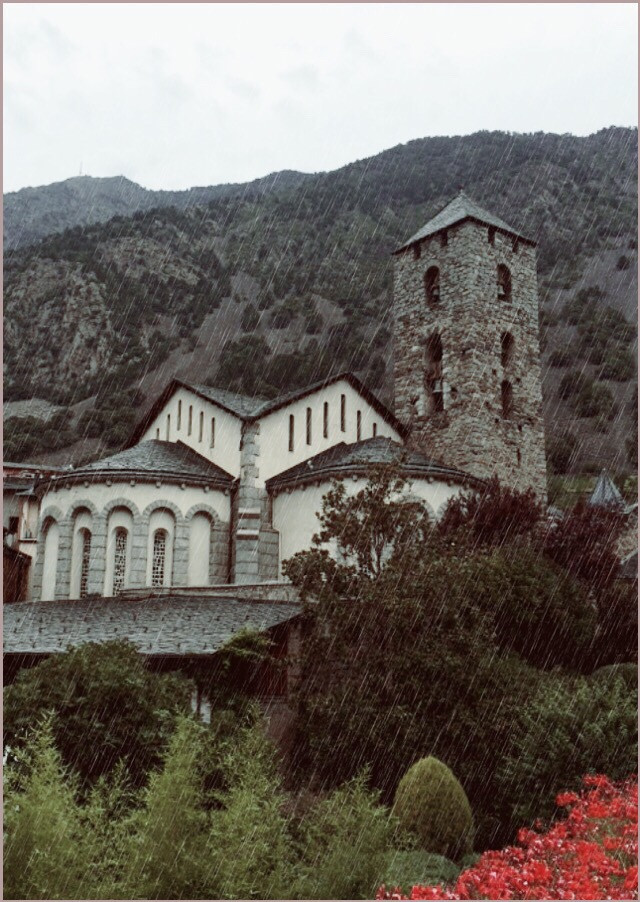 #blackandwhite  #colorsplash  #church  #architecture  #art  #religion  #mountains  #flowers  #nature  #rain  #andorra  #travel  #tourism  #photography  #beautifypicsart