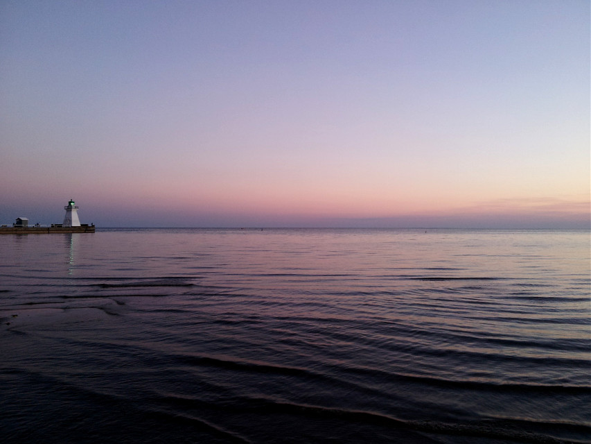 Another #oldphoto from 2 summers ago. This was taken at the same time as the last picture I posted. [*F]  #freetoedit #photography #landscape #lake #sunset #water #lighthouse #reflection #dailyinspiration #colorful