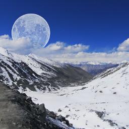 moon mountain wppwhite wapintheclouds wpplandscape dpcmountains dpcwanderlust dpcamazingview