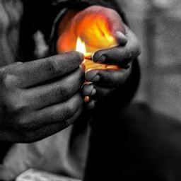 photography people flame colorful colorsplash