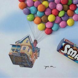 smarties balloon cute love travel