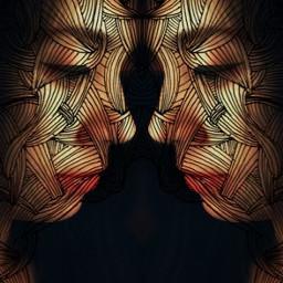 mirrored doubleexposure weird