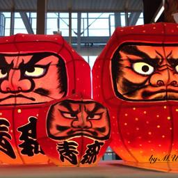 red lantern aomori japan light