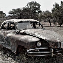 oldcar blackandwhite rusty