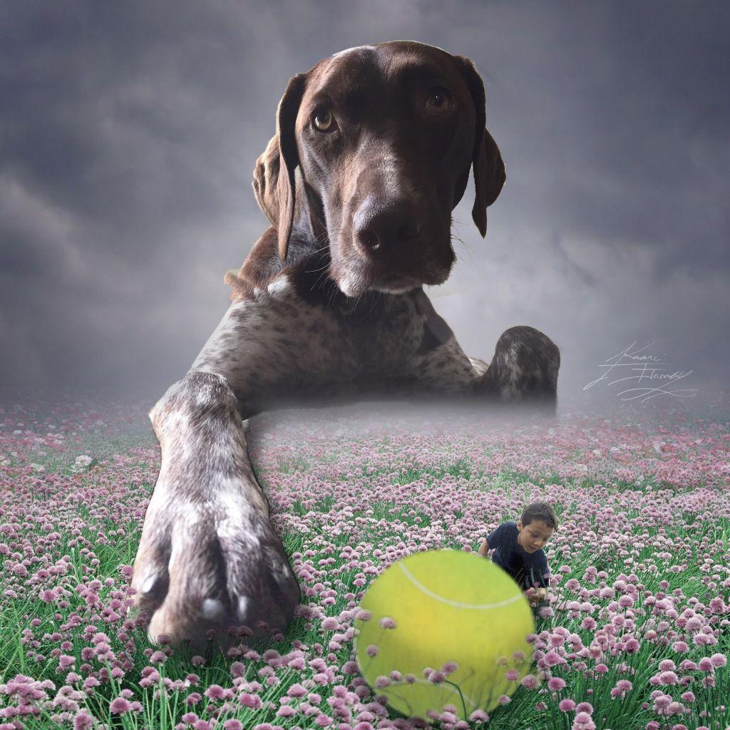 l love my dog💕and love son💕 #love #dog #son #artistic