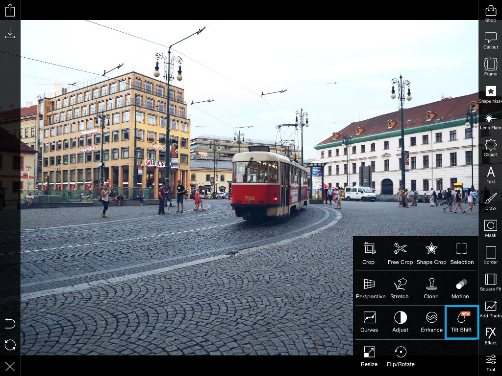 picsart editor tilt shift