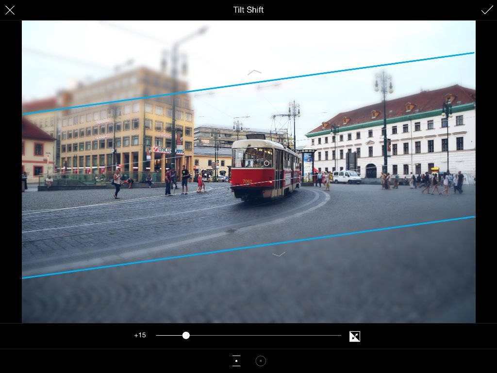how to adjust tilt shift orientation