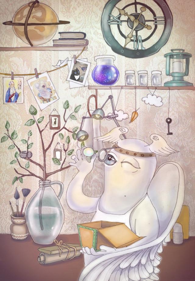 Heavenly office  #рисунок #иллюстрация #illustration #drawing #art #digitalart #digitaldrawing #drawingwithsmartphone  #nokialumia