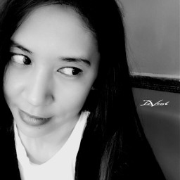 serious smile selfportrait edited blackandwhite freetoedit